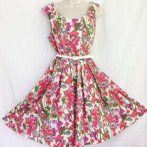 Coldwater Creek Floral Summer Dress W/Pockets
